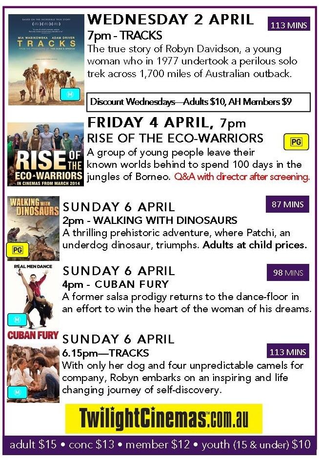 Cinema this week - Arts Margaret River