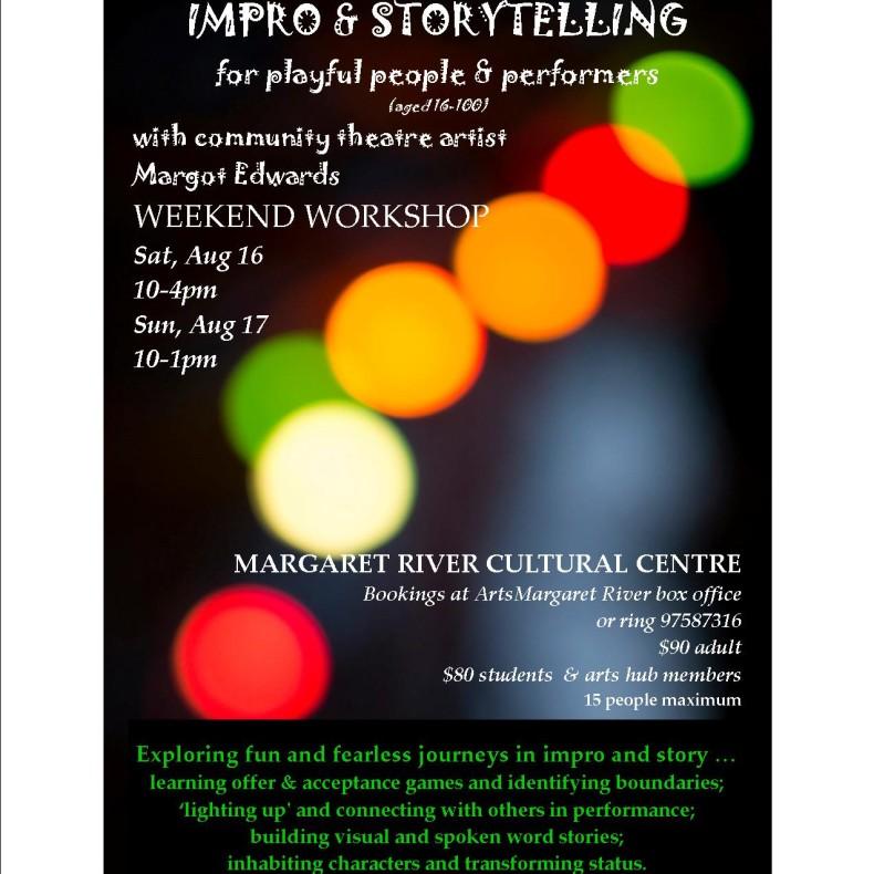 Poster Theatre Workshop Margot black box