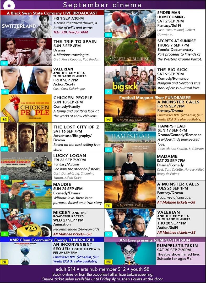 September cinema poster - Arts MR